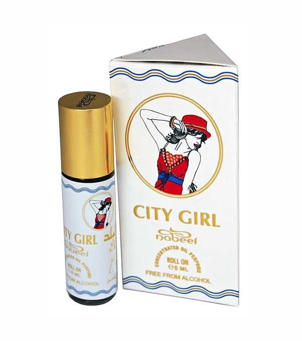 City Girl 6мл Nabeel Концентрированные масляные духи без содержания спирта. Альдегидные, цветочные, древесные Начальные ноты: роза, альдегиды   Ноты сердца: гиацинт, жасмин, герань   Ноты шлейфа: мускус, дубовый мох